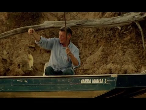 Michael Palin Catches a Piranha - Brazil with Michael Palin - BBC