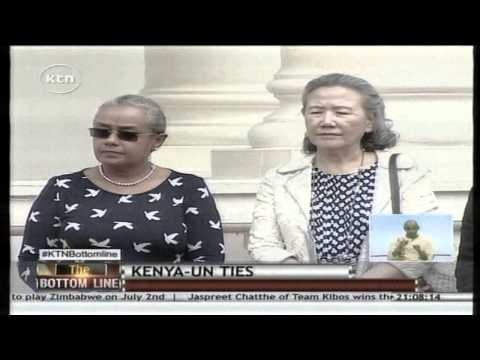 President Uhuru promises to attend UN Climate summit as Ban Ki Moon Visits him at State House