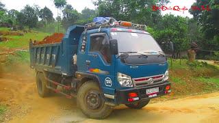 Phương tiện giao thông Xem máy xúc xích ô tô ben đào và chở đất 12 | Xem ô tô máy xúc làm việc 12