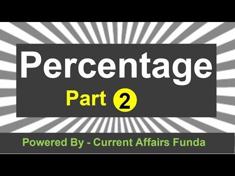 Percentage Part 2 Detailed explanation (IBPS,SSC CGL,CSAT,SBI PO,Railway,NDA,PCS,MAT) thumbnail