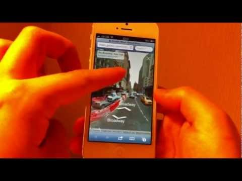 Street view on iPhone 5-How to use