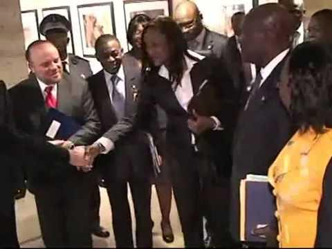 Visite du president de la Republique Alassane Ouattara au siege du FMI