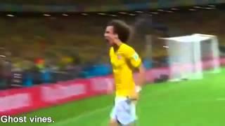 David Luiz Goal vs Colombia.Vine by Ghost