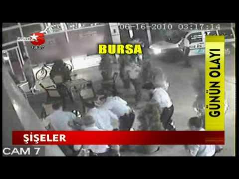 Bursa da Polis ve alkolu gencler arasinda Kavga.