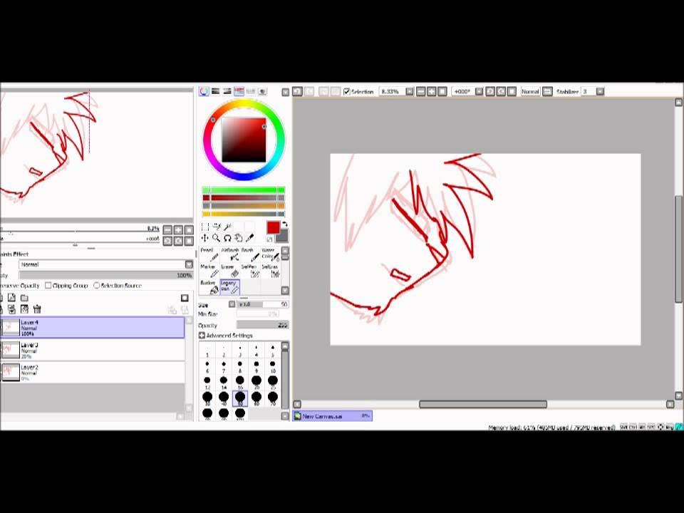 Как сделать анимацию в paint tool sai
