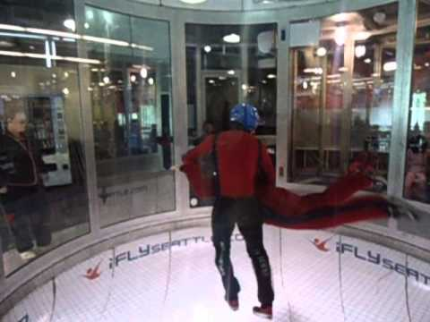 Erin, Ethan and myself  @ I Fly Indoor Skydiving, Seattle Wa., USA