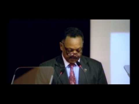 Rev. Jesse Jackson at MMU, with an introduction by Uwe Morawetz, part 1