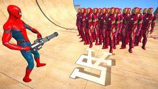 GTA 5 Spiderman Vs Iron Man Ragdolls Compilation #9 (GTA 5, Euphoria Physics, Fails, Funny Moments)