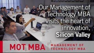 Management of Technology MBA Tech Tour 2015: Silicon Valley