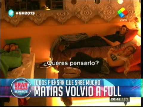"""""""Gran Hermano 2015"""" Todos contra Matías, Matías contra todos"""