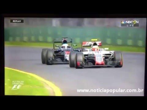 Acidente envolvendo Fernando Alonso e Gutierrez no GP da Austrália de F1
