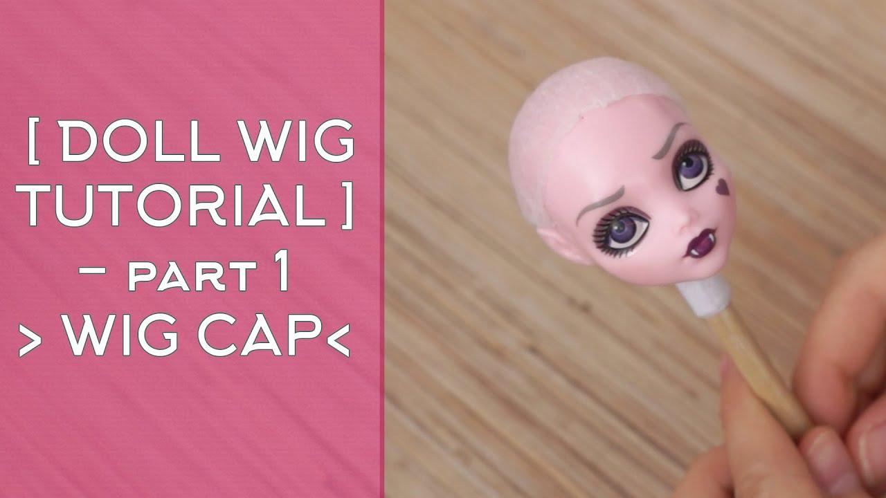 Как сделать шапочку для парика кукле