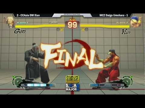 Team Madcatz Daigo (Yun) vs DM | Cross Counter Asia Xian (Gen) FT7 - SEA Major Grand Finals pt 1
