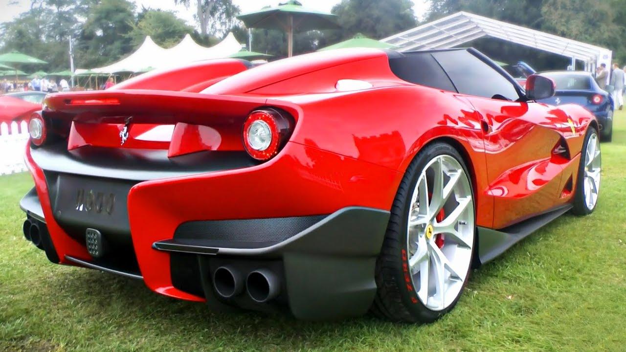1-off Ferrari F12 TRS - Revs and sounds at Salon Privé - YouTube