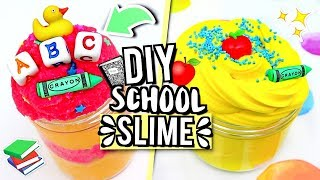 MAKING SLIME Inspired By SCHOOL! How To Make SLIME!