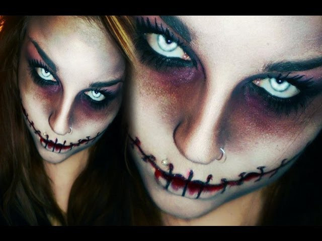 Last minute! EFFEKTIVES & EINFACHES HORROR / ZOMBIE HALLOWEEN / KARNEVAL MAKE-UP CHELSEA SMILE
