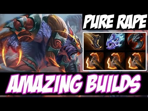 PURE RAPE - 45 KILLS AND DOUBLE RAMPAGE - Amazing Builds vol 78 - Dota 2