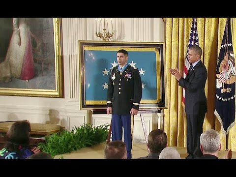 The President Presents the Medal of Honor to Captain Groberg