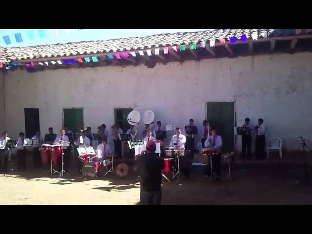BANDA DE MUSICOS- la unica de marcara -fiesta patronal de pallasca 2012