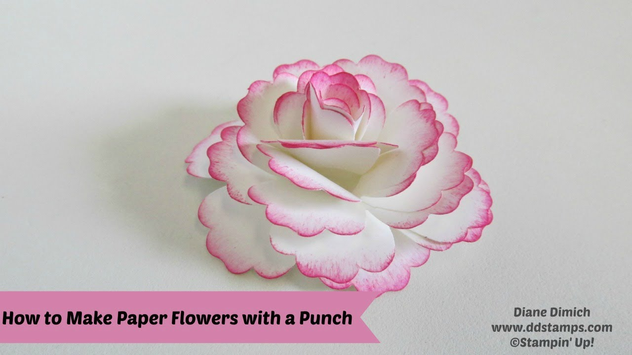 How To Make Paper Flowers Using Punches