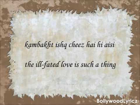 Kambakkht Ishq English Translation Lyrics