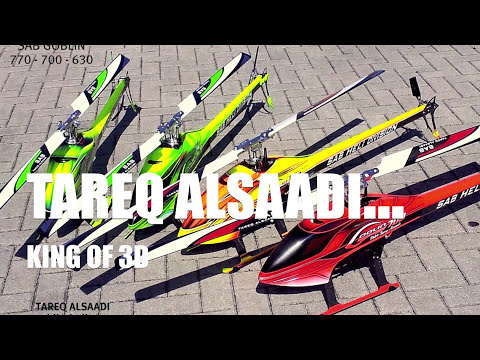 NEW:::Tareq AlSaadi and SAB Goblin 700 at THAILAND HELI BLOWOUT 2012