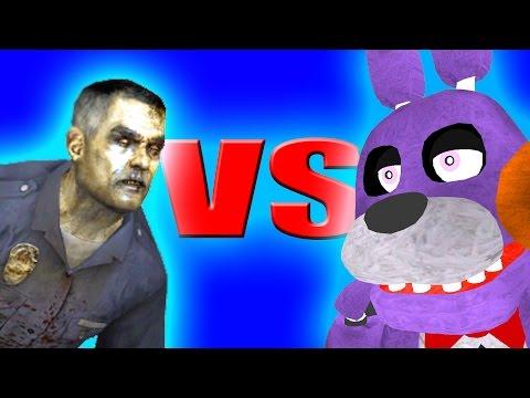 ANIMATRONICS V.S. ZOMBIES!! - Gmod Five Nights At Freddy's Zombie Mod (Garry's Mod)
