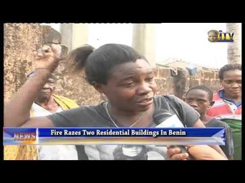 Fire Razes Two Residential Building In Benin