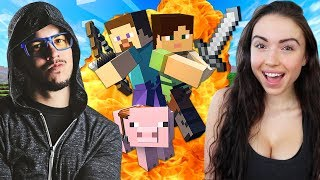 Download Lagu MINECRAFT w/ MY GIRLFRIEND!! (Minecraft #1) Gratis STAFABAND