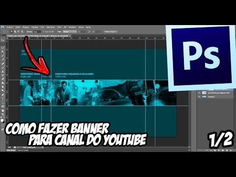 COMO FAZER UM BANNER PARA CANAL NO YOUTUBE thumbnail