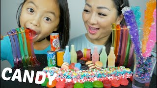 MIX CANDY Party, Nik-L-Lip Wax Bottle, Noodle Jello, Rock Candy & Gummy  Mukbang | N.E Let's Eat