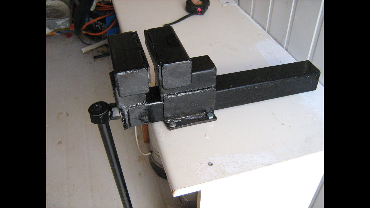 homemade table vise - YouTube
