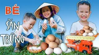 Trò Chơi Bé Đi Săn Trứng – Em Bé Nhặt Trứng Với Mẹ Siêu Đáng Yêu ❤ BonBon TV ❤