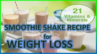 HOW TO PREPARE HEALTHY PROTEIN SHAKE? SMOOTHIE SHAKE RECIPE for WEIGHT LOSS..