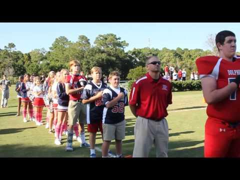 Hilton Head Preparatory School Football National Anthem - Homecoming - 10/26/2013