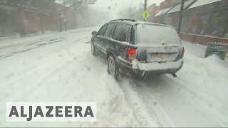 Bomb cyclone weather emergency across US East Coast ррё