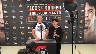 Fedor Emelianenko at Bellator 208 Post-Fight Presser: Thinks Cain Velasquez Greatest of All-Time
