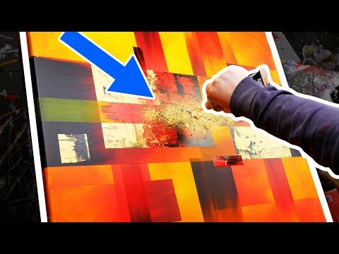 How To Make An Abstract Painting With Powerful And Bright Colors   Solar Blast   John Beckley