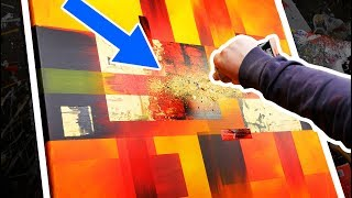 How To Make An Abstract Painting With Powerful And Bright Colors | Solar Blast | John Beckley