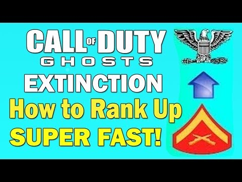 COD Ghosts Extinction: How to Rank Up Super Fast! - Instant Prestige 5 Max Rank!