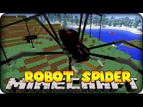 Minecraft Mods - GIANT ROBOT SPIDER ! ( Orespawn / Mod Showcase)