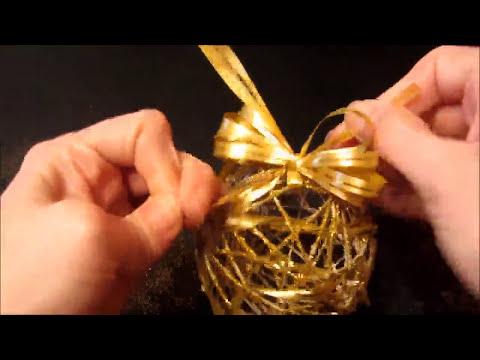Cómo hacer bolas (esferas) para el árbol.