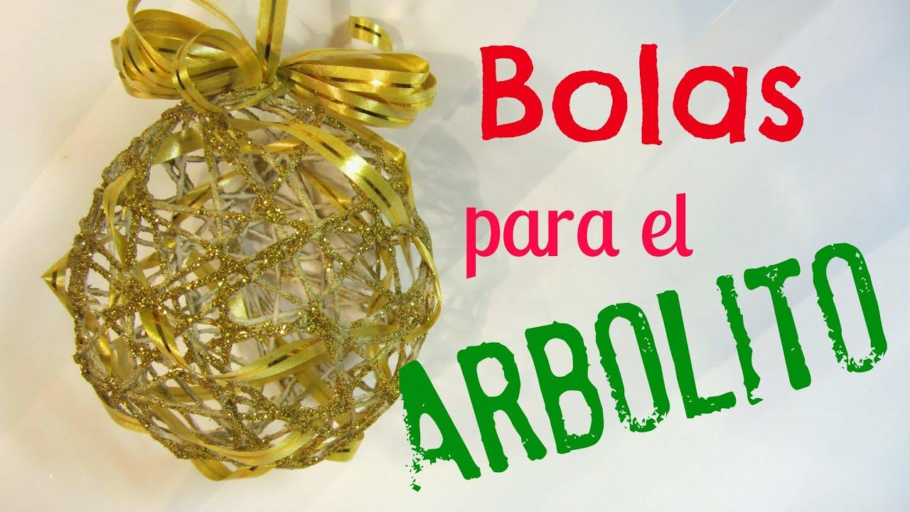 C mo hacer bolas esferas para el rbol youtube - Hacer adornos para el arbol de navidad ...