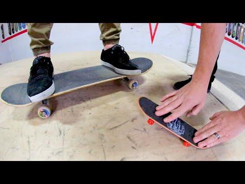 Handboard Vs Real Skateboard / Game of S.K.A.T.E.!