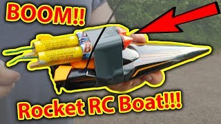 BOOM! Rocket Powered RC Boat