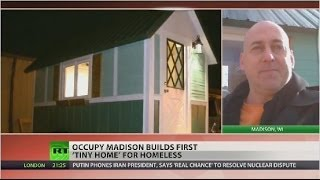 Occupy Madison builds 'tiny home' for homeless