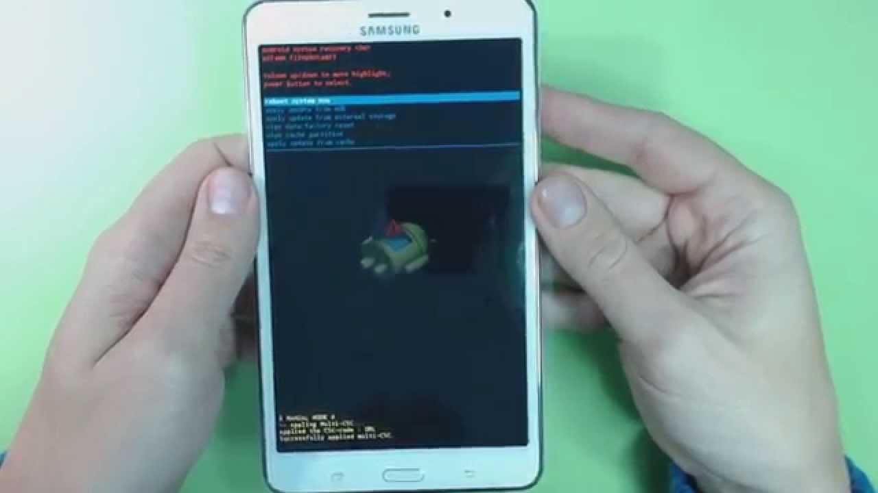 Как на планшете самсунг сделать ресет 33