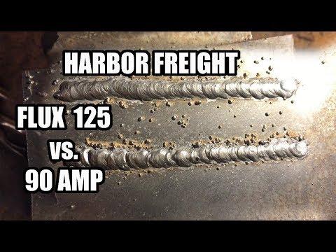 Harbor Freight Welder Flux 125 Vs. 90 Amp