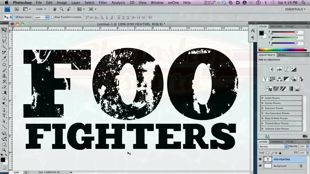 Iron Font Photoshop Iron Grunge Font Family Basic