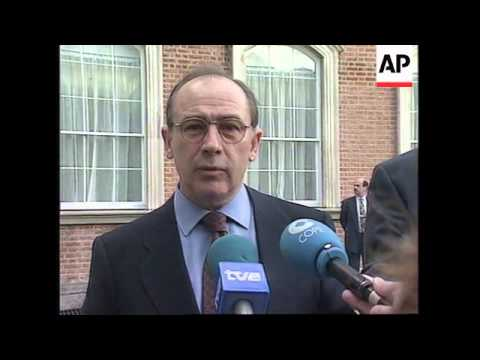 IRELAND: DUBLIN: EU FINANCE MINISTER ARRIVES FOR INFORMAL MEETING